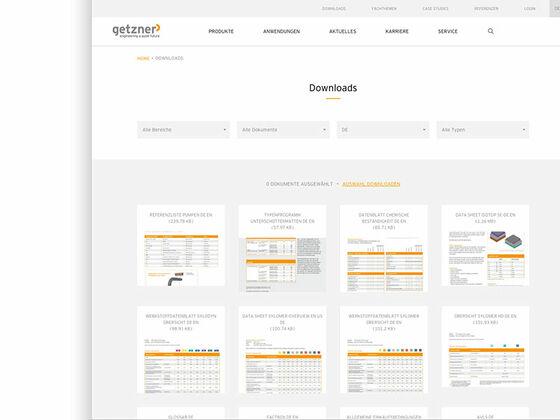 Getzner-Download-Seite