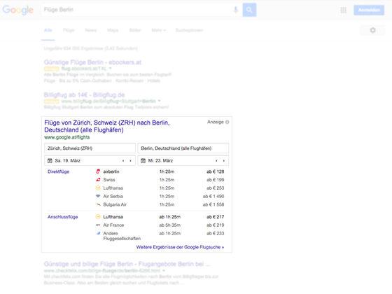 Google-SERPs-Flüge
