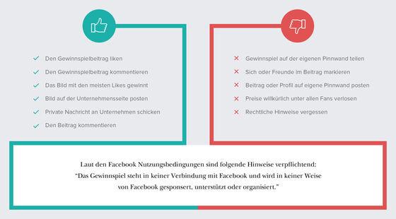 Infografik zum Download: DO's & DONT's bei Facebook Gewinnspielen