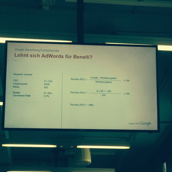 Google Adwords Basics Zürich Mai 2014 - ROI