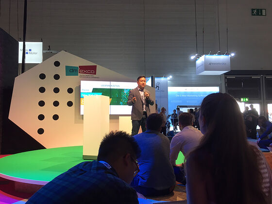 Präsentation von David Shim (Founder & CEO, Placed) im «Startup Village»
