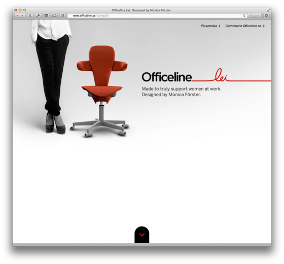 One Page Webdesign Beispiel Officeline