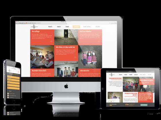 MASSIVE ART – Website-Relaunch für Projekt Albanien