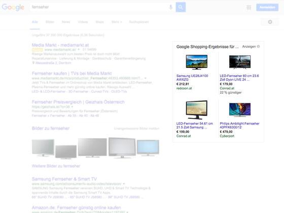 Google-SERPs-Fernseher