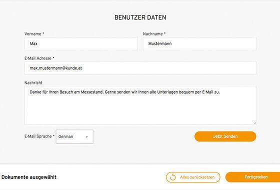 Getzner Messetool Personalisierte Nachricht MASSIVE ART