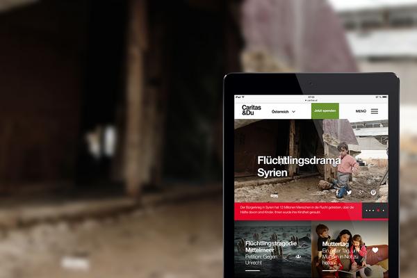 MASSIVE ART – Unterseite der neuen Caritas Österreich Website