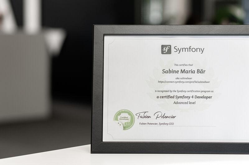 Symfony Zertifizierung Sabine Bär