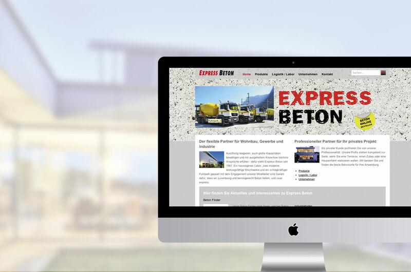 MASSIVE ART – Website-Relaunch für Expressbeton