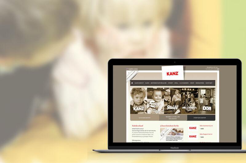 MASSIVE ART – Website für Kanz Kindermoden