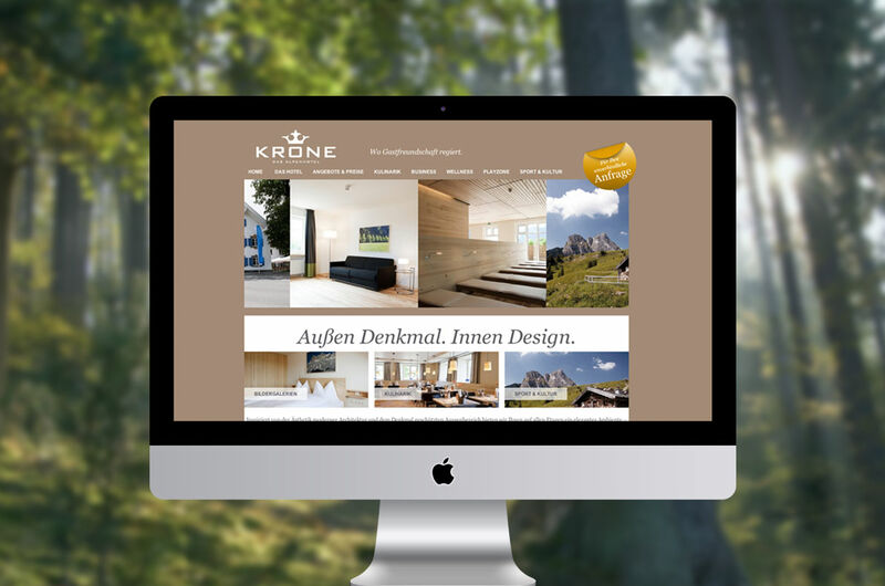 MASSIVE ART – Website-Relaunch für Alpenhotel Krone