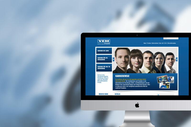 MASSIVE ART – Website für V.E.M – Vorarlberger Elektro- und Metallindustrie