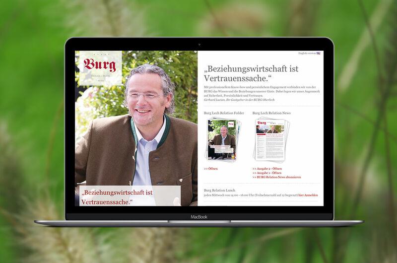 MASSIVE ART – Website-Relaunch für Burglech